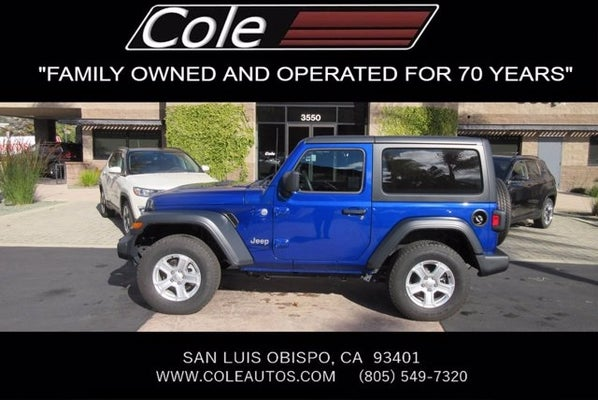 2019 Jeep Wrangler Sport S In San Luis Obispo Ca Cole Chrysler Dodge